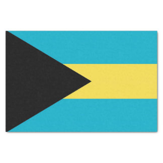 Patriotic tissue paper with flag of Bahamas