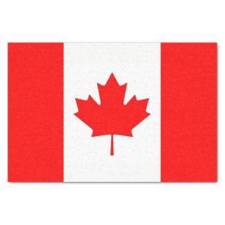 Patriotic tissue paper with flag of Canada