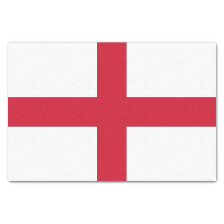 Patriotic tissue paper with flag of England