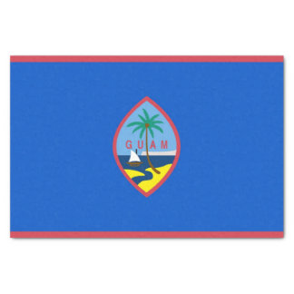Patriotic tissue paper with flag of Guam