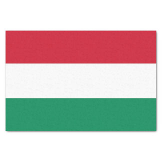 Patriotic tissue paper with flag of Hungary