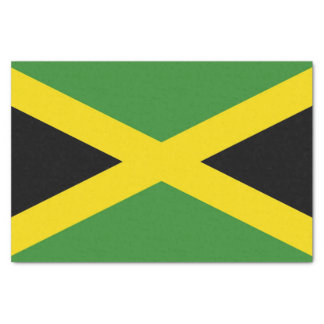Patriotic tissue paper with flag of Jamaica