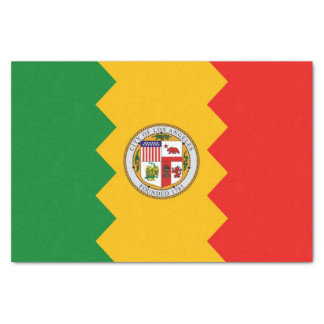 Patriotic tissue paper with flag of Los Angeles