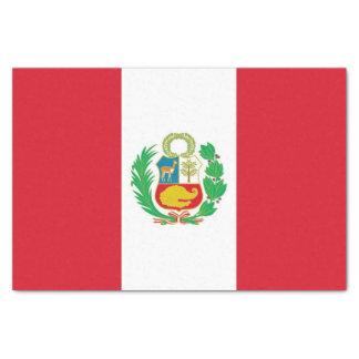 Patriotic tissue paper with flag of Peru