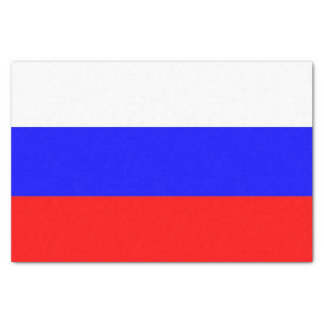 Patriotic tissue paper with flag of Russia