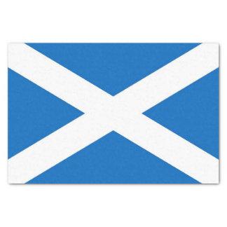 Patriotic tissue paper with flag of Scotland