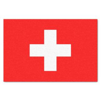 Patriotic tissue paper with flag of Switzerland