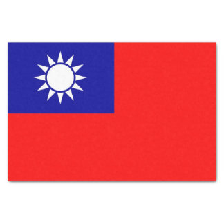 Patriotic tissue paper with flag of Taiwan