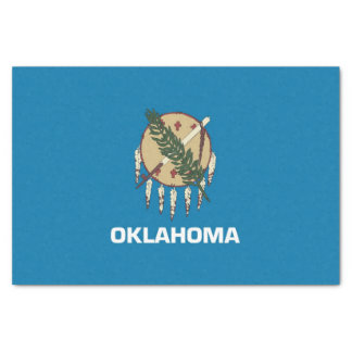 Patriotic tissue paper with flag Oklahoma, USA