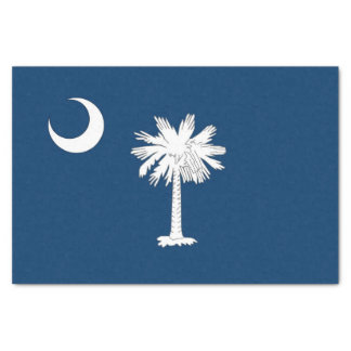 Patriotic tissue paper with flag South Carolina