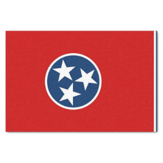 Patriotic tissue paper with flag Tennessee