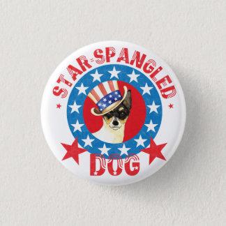 Patriotic Toy Fox Terrier 3 Cm Round Badge