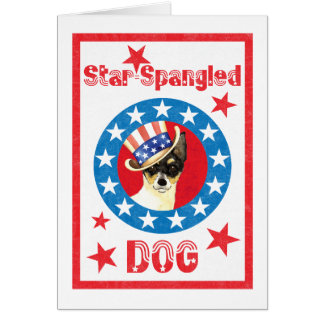Patriotic Toy Fox Terrier Card