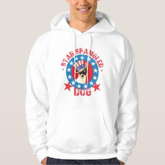 Patriotic Toy Fox Terrier Hoodie