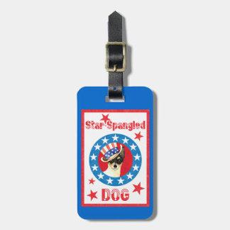 Patriotic Toy Fox Terrier Luggage Tag