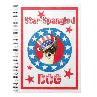 Patriotic Toy Fox Terrier Notebook