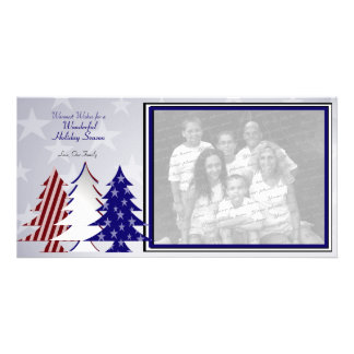 Patriotic Trees Photo Card Template
