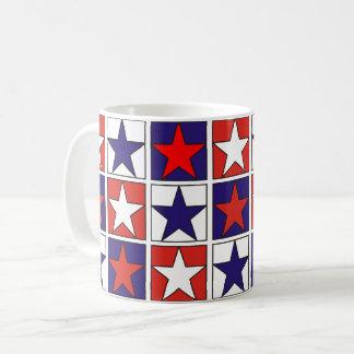 Patriotic Tricolor Stars Coffee Mug
