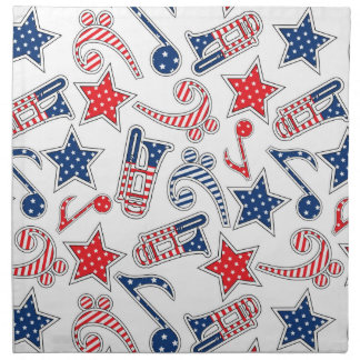 Patriotic Trumpets Cloth Napkins