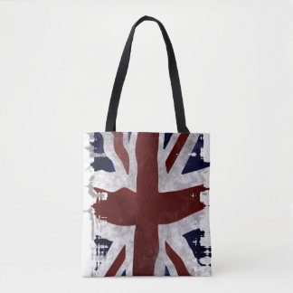 Patriotic UK Union Flag in Grunge style Tote Bag
