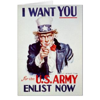 Patriotic Uncle Sam - Vintage Poster Card