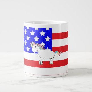 Patriotic unicorn jumbo mug