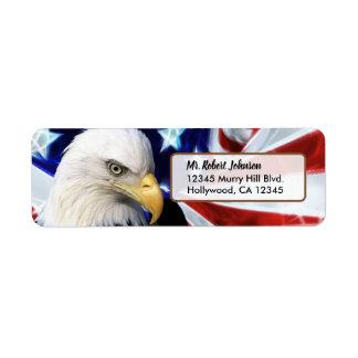 Patriotic United States Bald Eagle Return Address Label