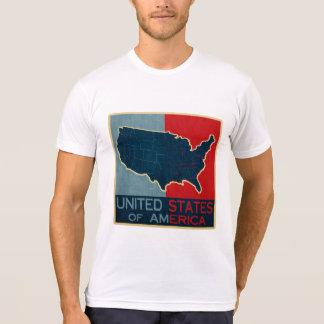 Patriotic UNITED STATES OF AMERICA MAP Tee