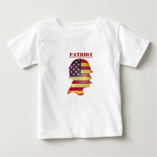 Patriotic US American Flag Military Helmet Baby T-Shirt