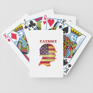Patriotic US American Flag Military Helmet Bicycle Playing Cards