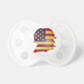 Patriotic US American Flag Military Helmet Dummy