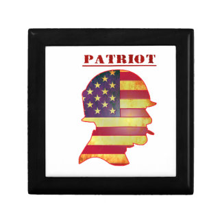 Patriotic US American Flag Military Helmet Gift Box