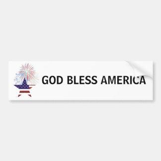 Patriotic US Bumper Sticker