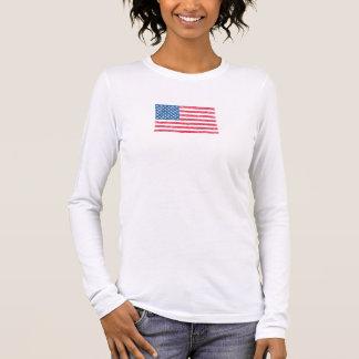Patriotic US Scribble Flag T-Shirt