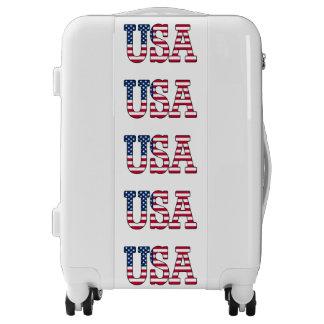 Patriotic USA American Flag Suitcase