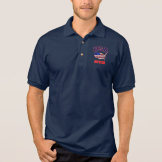 Patriotic USA American Flag United We Stand Polo Shirt