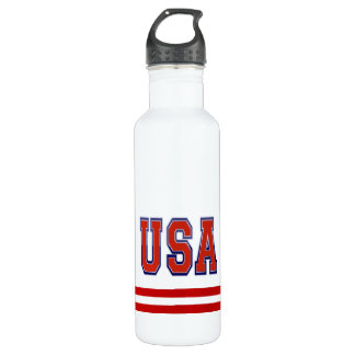 Patriotic USA and Stripes 710 Ml Water Bottle