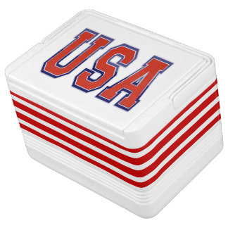Patriotic USA and Stripes Cooler