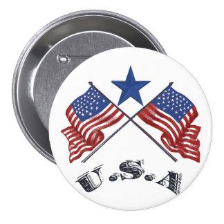 Patriotic USA Pinback Buttons