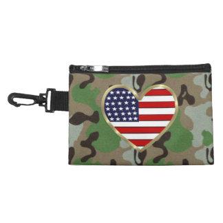Patriotic USA Camo Accessory Bags