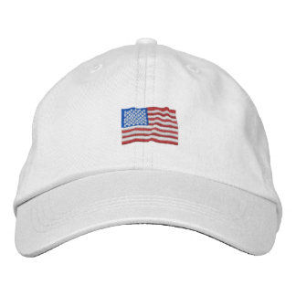 Patriotic USA Embroidered Hat
