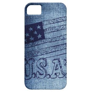 Patriotic USA Flag in Denim Blue iPhone 5 Case