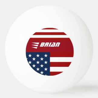 patriotic USA flag personalized Ping Pong Ball