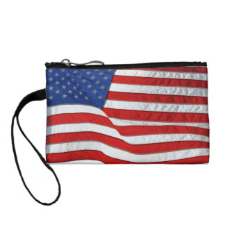 Patriotic USA Flag, United States Coin Wallets
