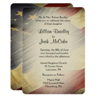 Patriotic USA Flag Wedding Invitations