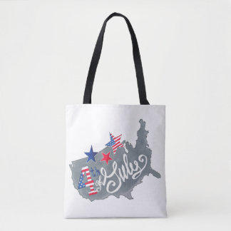 Patriotic USA Map 4th Of July Independence Day Tote Bag