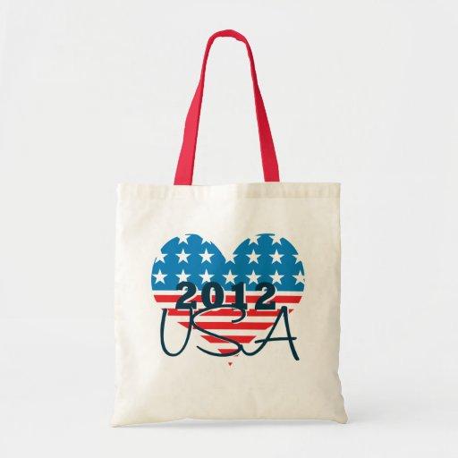 Patriotic USA Presidential Election 2012 Tote Bag