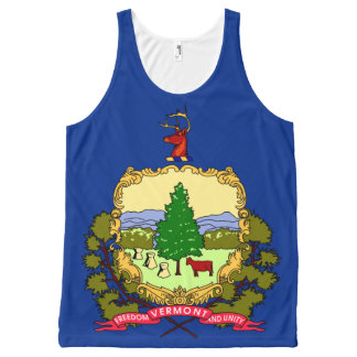 Patriotic Vermont State Flag All-Over Print Tank Top