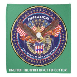 Patriotic Veteran View Large Image in About Design Bandanna