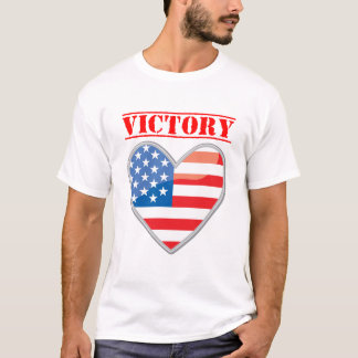Patriotic Victory Heart United States T-Shirt